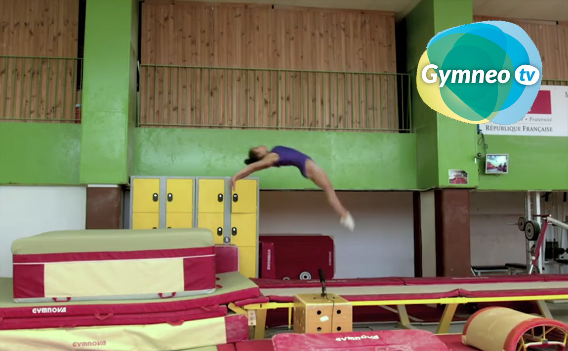 Gymnastics drills - Gymneo, learning the double layout on the fast track