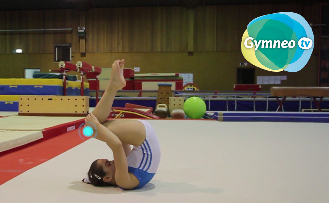 Gymnastics drills - Gymneo, Front Tuck on Floor Exercise