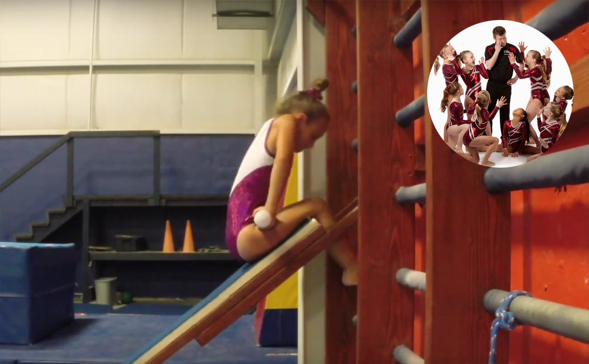 Gymnastics drills - GymTactics, front hip circle