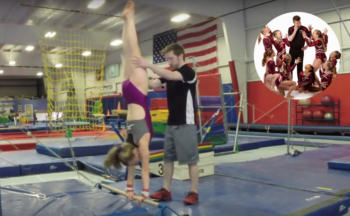 Gymnastics drills - GymTactics, half turns on bars