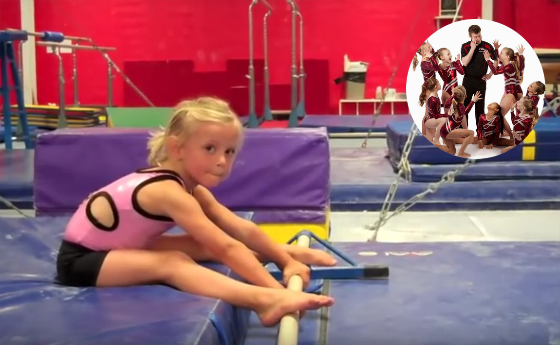 Gymnastics drills - GymTactics, straddle sole circle dismount