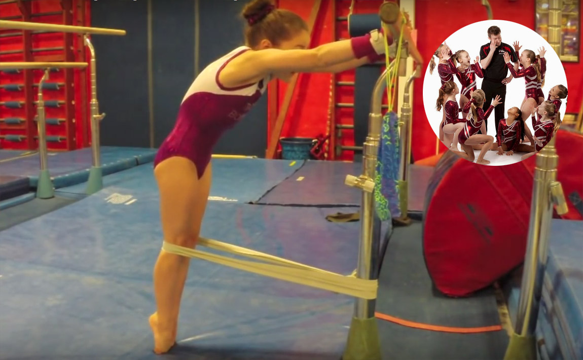 Gymnastics conditioning - GymTactics, straight legs for giant swings