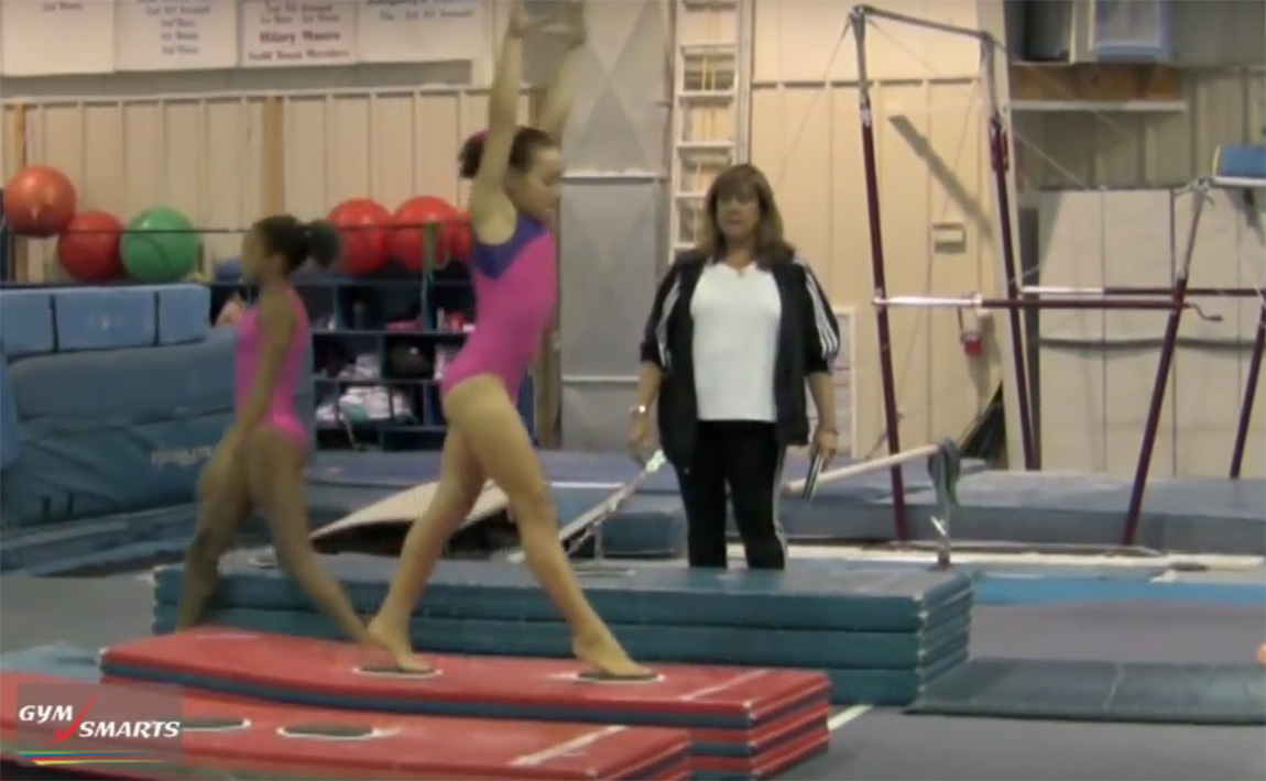 Gymnastics drills - Biggs, aerial drills with sliders