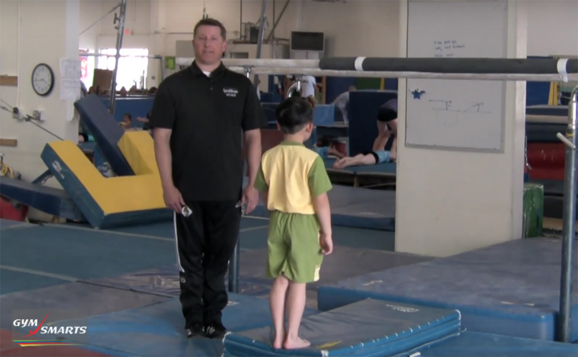 Gymnastics drills - Christopher Brown, stretching for handstands