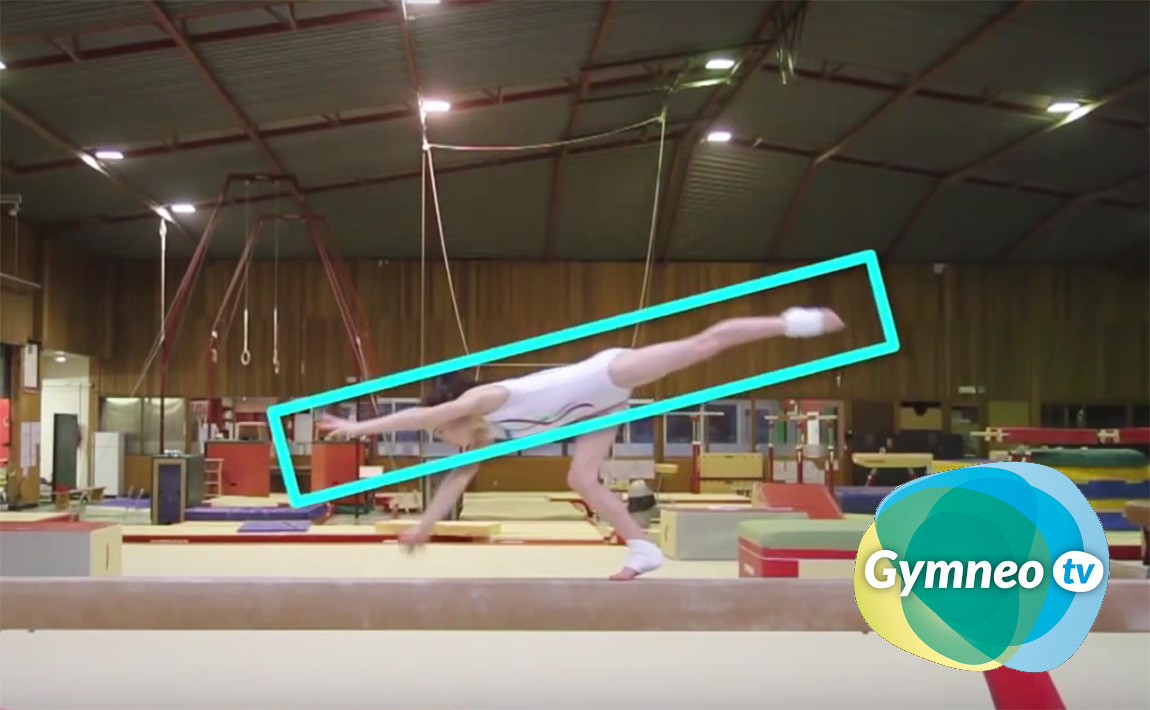 Gymnastics drills - Gymneo, round-off dismounts from beam