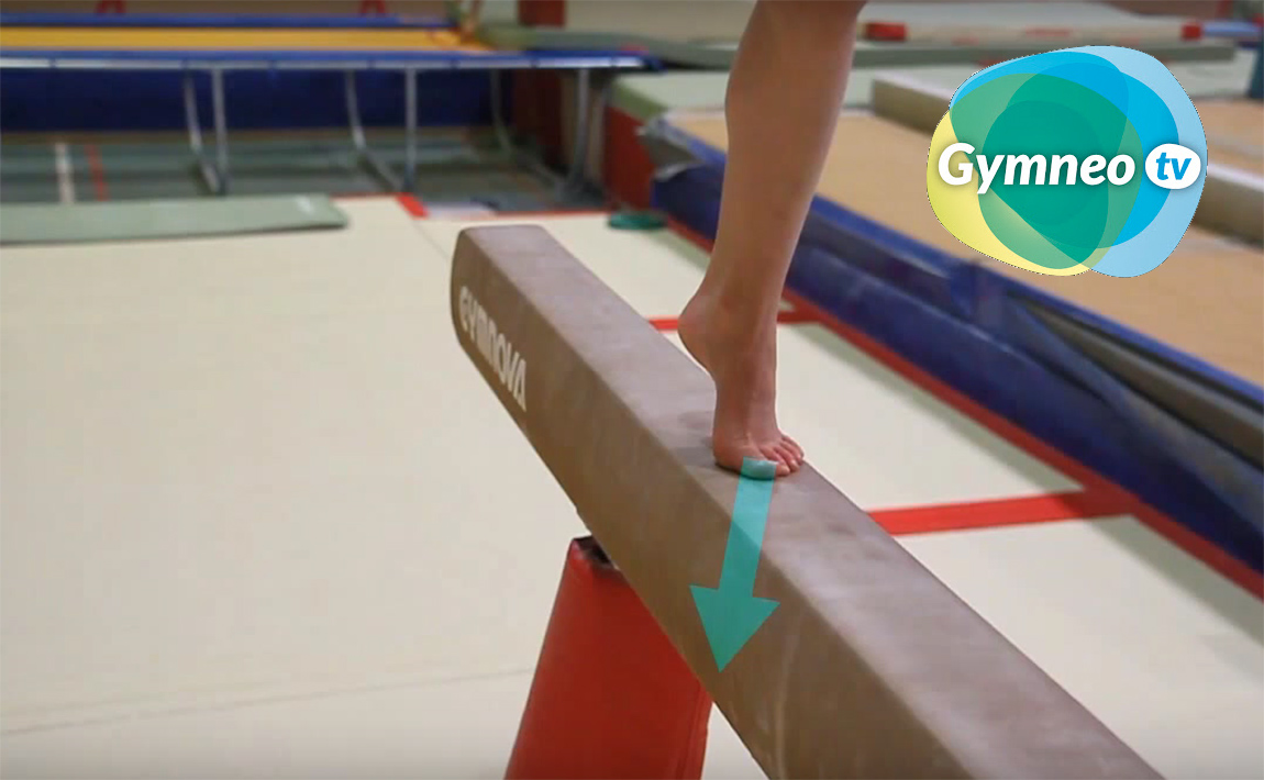 Gymnastics drills - Gymneo, the front handspring for beam