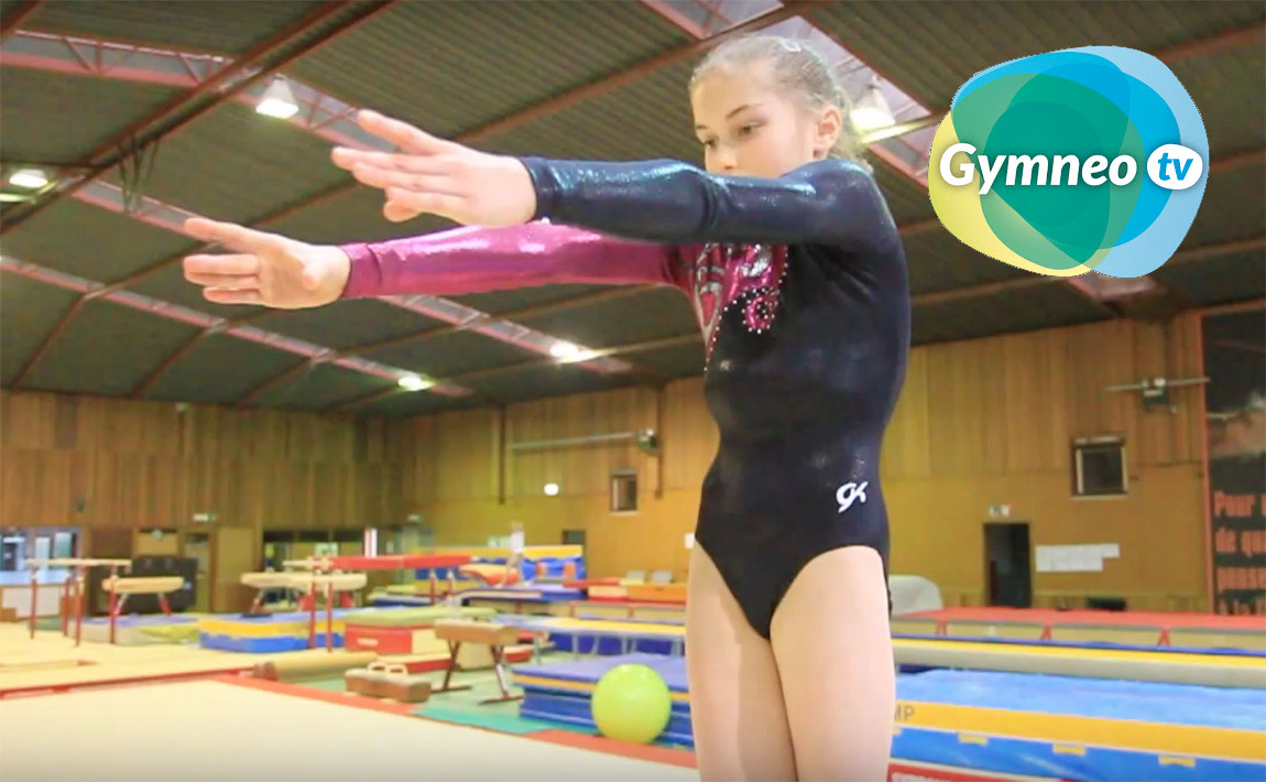Gymnastics drills - Gymneo, back handspring on beam
