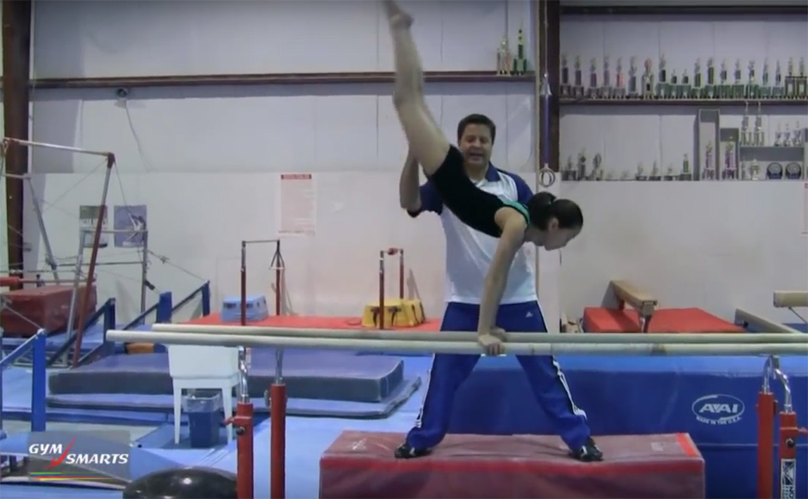 Gymnastics drills - Tony Retrosi, cast to handstand