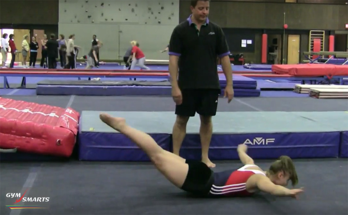Gymnastics drills - Retrosi, front tumbling arms