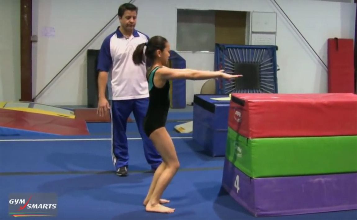 Gymnastics drills - Retrosi, sticking landings