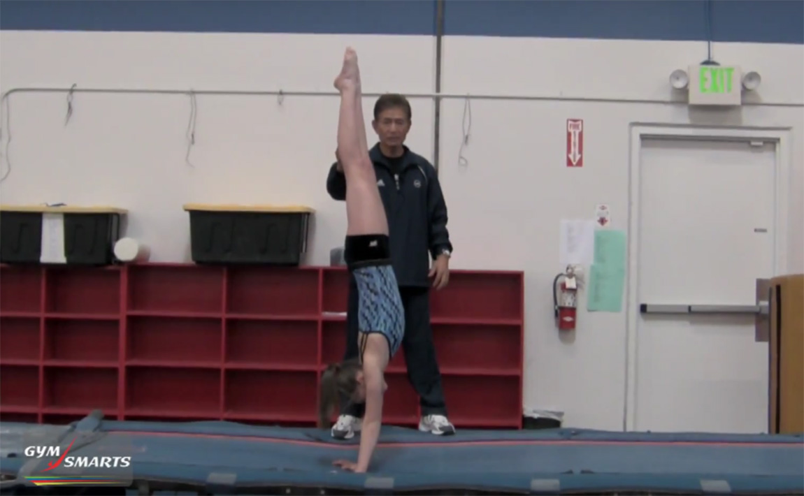 Gymnastics drills - Mas Watanabe - snap down for back handspring