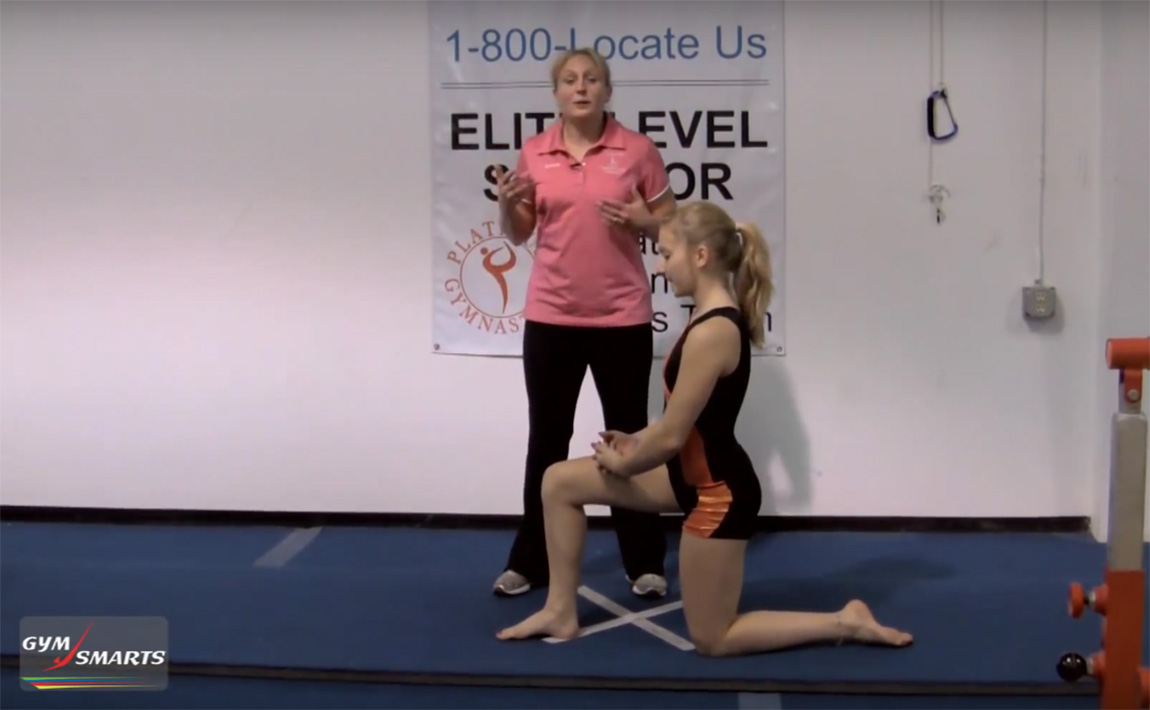 Gymnastics drills - Brandi Smith Young, hip flexor stretches