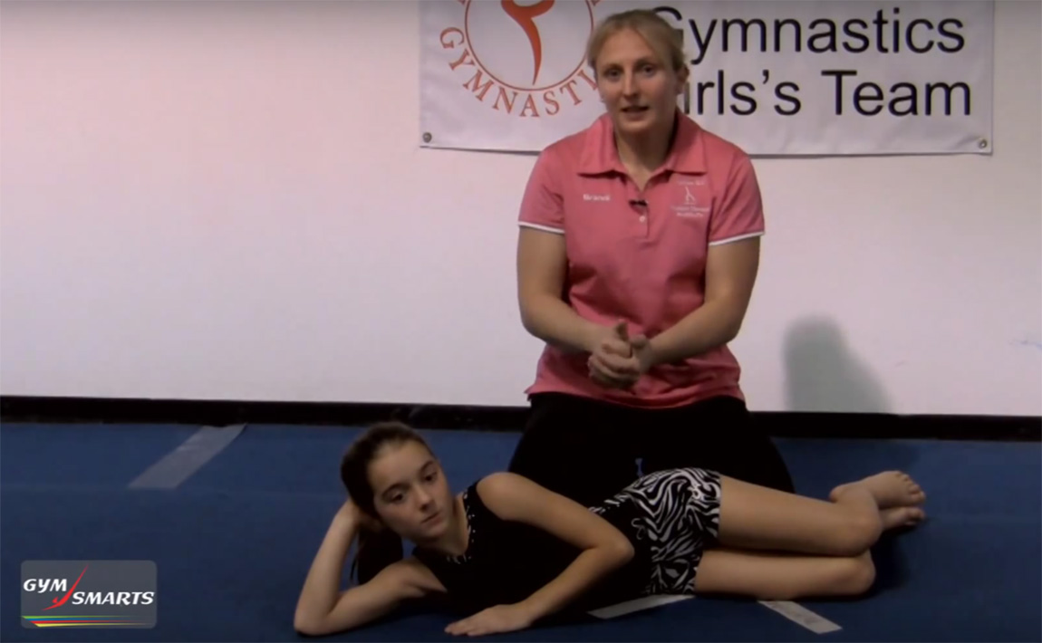 Gymnastics drills - Brandi Smith Young, stronger hip muscles