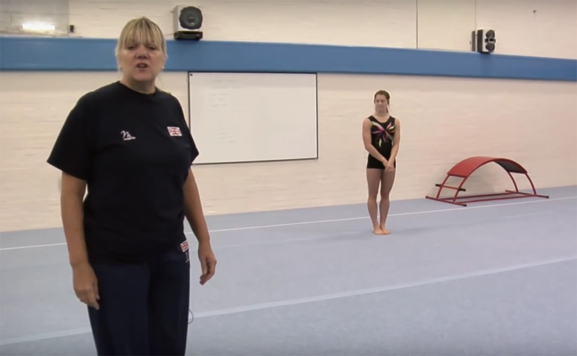 Gymnastics drills - British Gymnastics, round-off