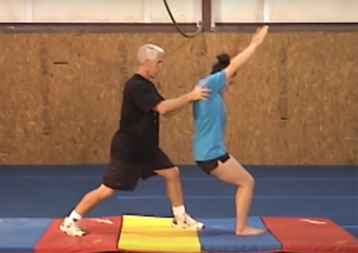 Gymnastics drills - Langley, back handspring drills
