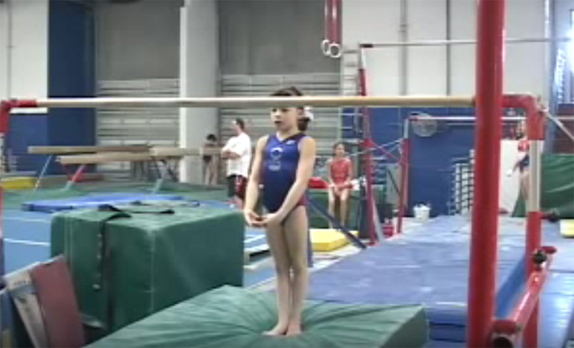 Gymnastics drills - Langley, clear hip circle tutorial