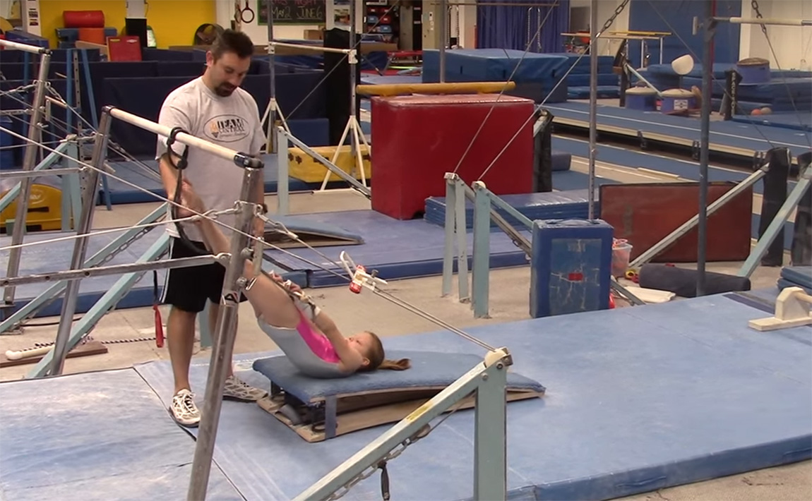 Gymnastics drills - Basic uneven bars drills