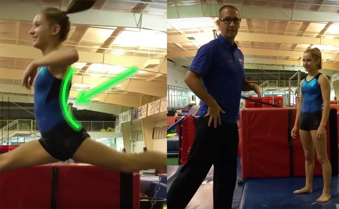 Gymnastics drills - GymnastCare, how and why of hip extension