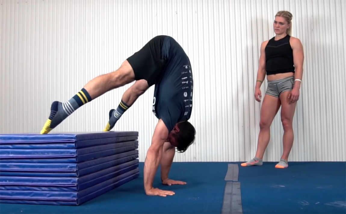 Gymsymbol skills and drills - press to handstand with Dave Durante
