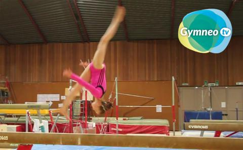 Gymnastics drills - Gymneo, Layout stepout