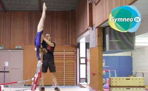 Gymnastics drills - Gymneo, spotting techniques for women's uneven bars