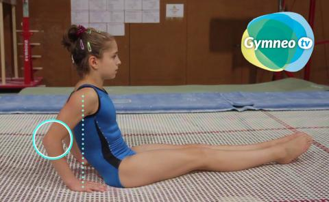 Gymnastics drills - Gymneo, the seat drop on trampoline