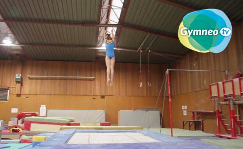 Gymnastics drills - Gymneo, The straight jump on trampoline