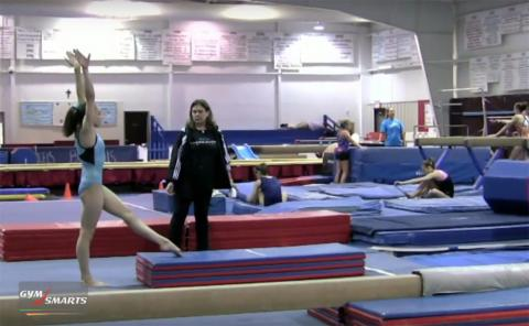Gymnastics drills - Biggs, round-off dismounts