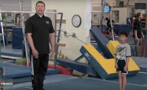 Gymnastics drills - Christopher Brown, tall handstands
