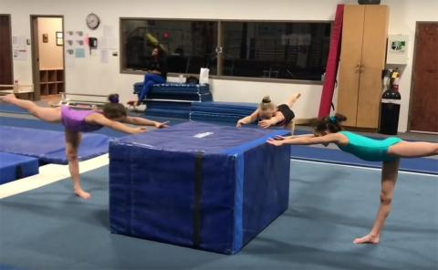 Gymnastics drills - DeAvera Todd, developmental floor basics