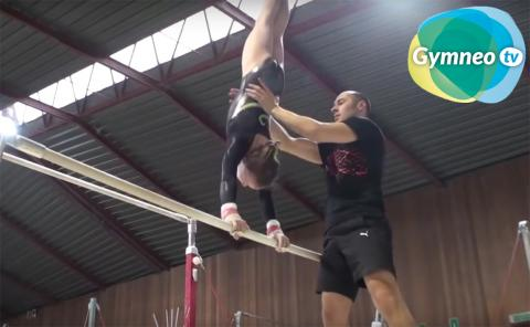 Gymnastics drills - Gymneo, spotting uneven bars