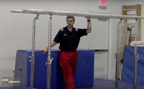 Gymnastics drills - Mazeika, parallel bars kip