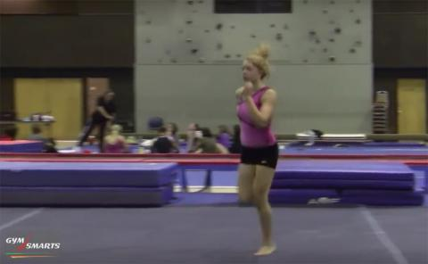 Gymnastics drills - Retrosi, running for vault