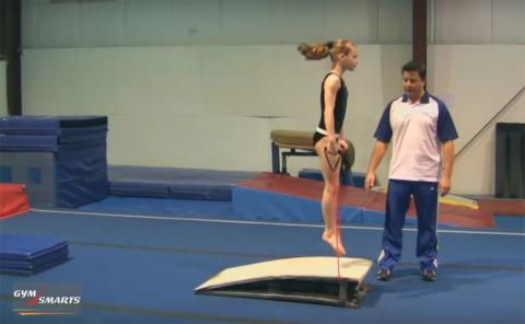 Gymnastics drills - Retrosi, springboard action
