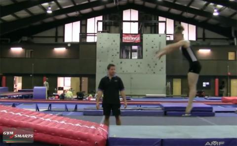 Gymnastics drills - Retrosi, whip back half turn