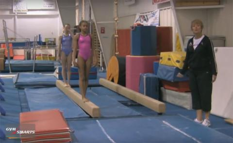 Gymnastics drills - Mary Lee Tracy, Mental preparation for beam saltos