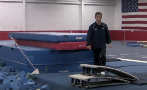 Gymnastics drills - Mas Watanabe - double board drills for vault