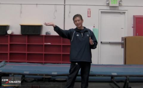 Gymnastics drills - Mas Watanabe - power for front handsprings