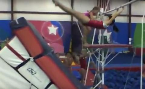 Gymnastics drills - Durante, uneven bars releases