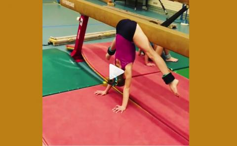 Gymnastics drills - shapign the press to handstand