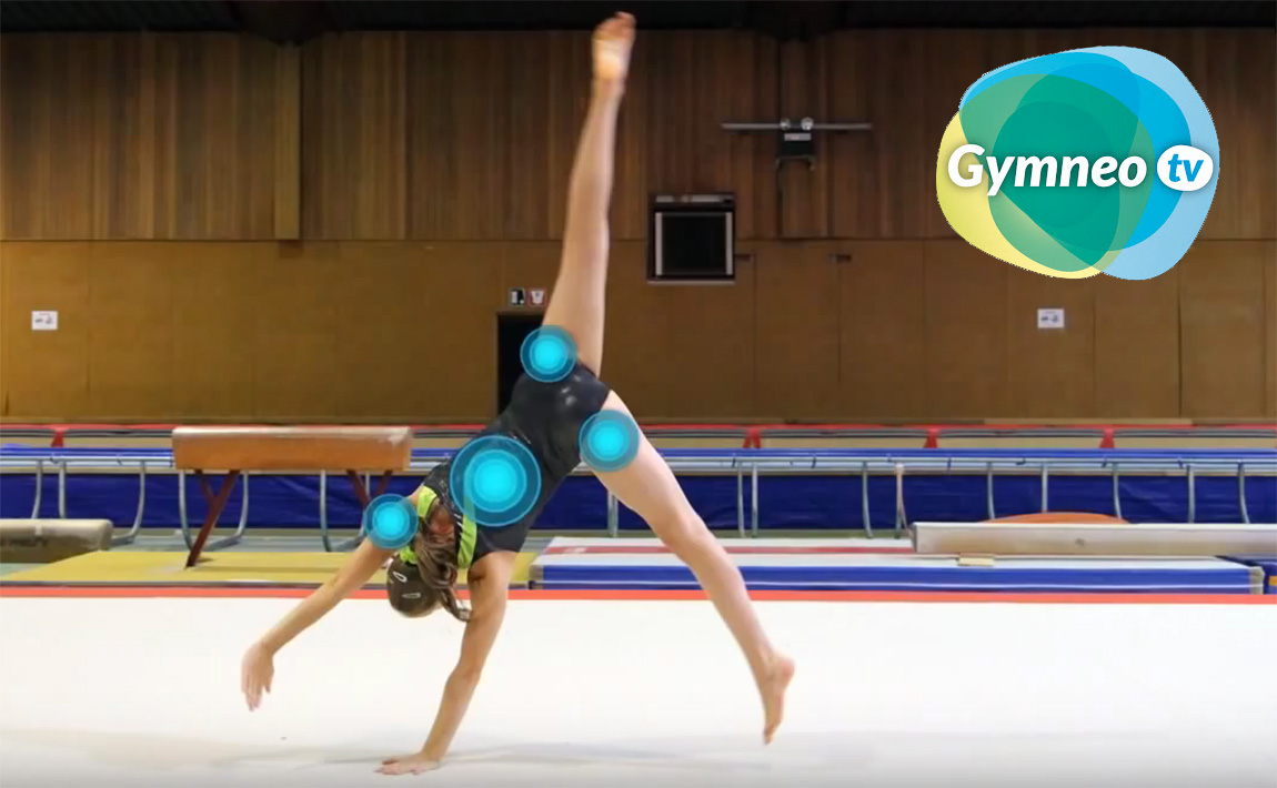 Gymnastics drills - Gymneo, Round-off on floor exercise, tumbling